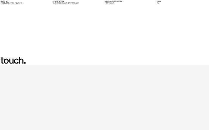 Screenshot of Nordisk store website