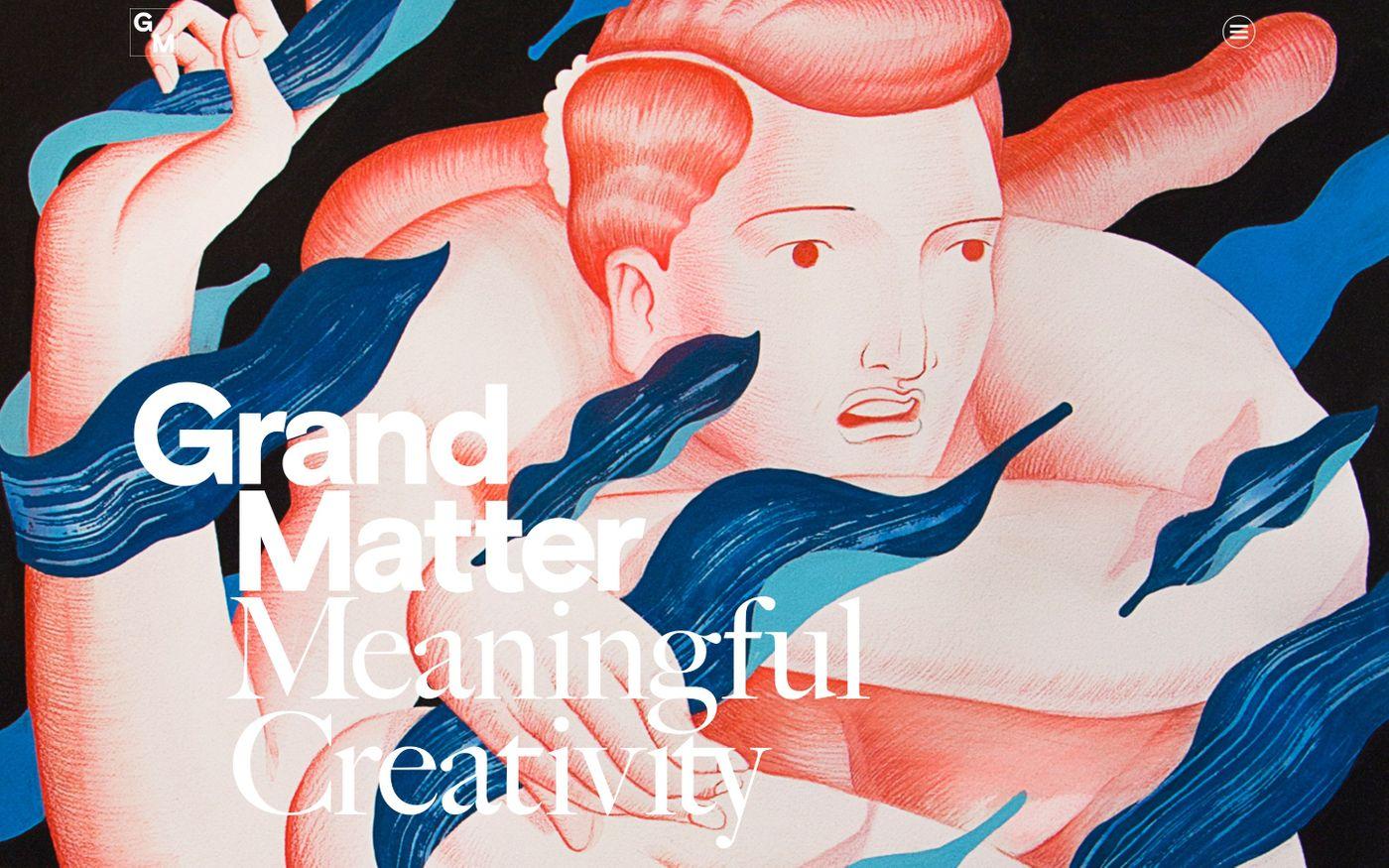 Screenshot of Grand Matter website