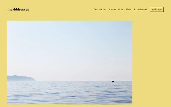 Screenshot of The Addresses website