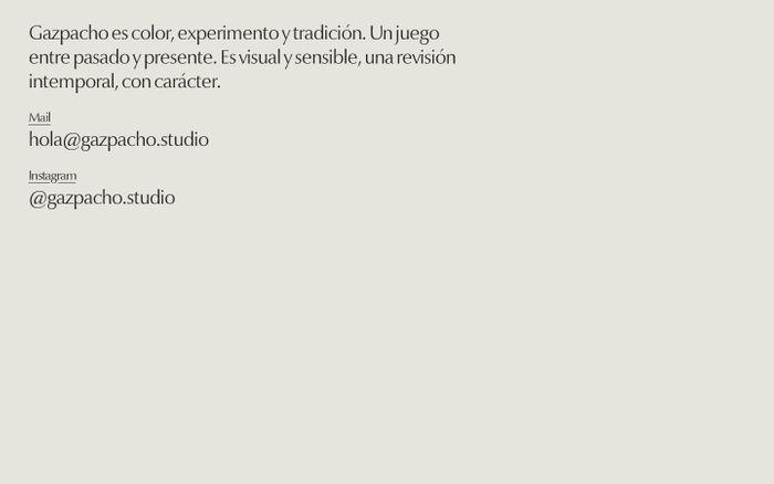 Screenshot of Gazpacho