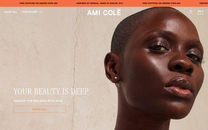 Screenshot of Ami Colé website