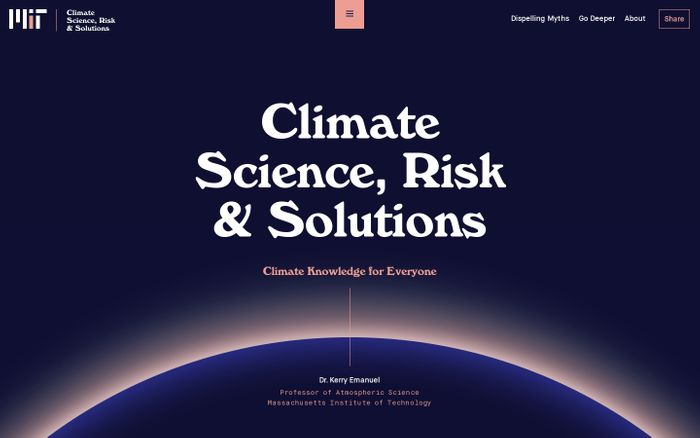 Screenshot of  Climate Science, Risk & Solutions