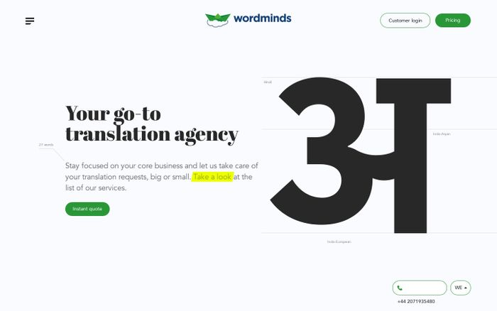 Screenshot of Wordminds | Full Service Translation & Localisation Agency