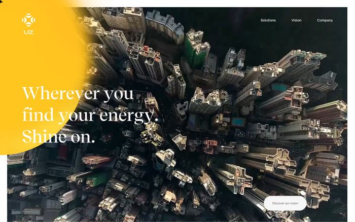 Screenshot of UZ | Premium Energy Storage for homes and industries