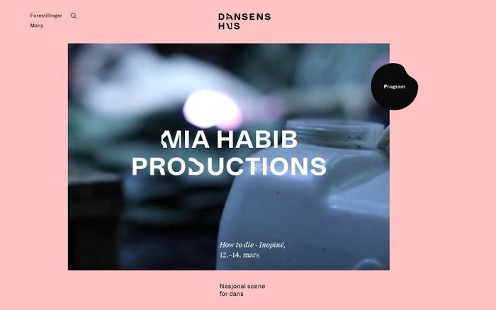 Screenshot of Dansens Hus er Norges nasjonale scene for dans - Dansens Hus