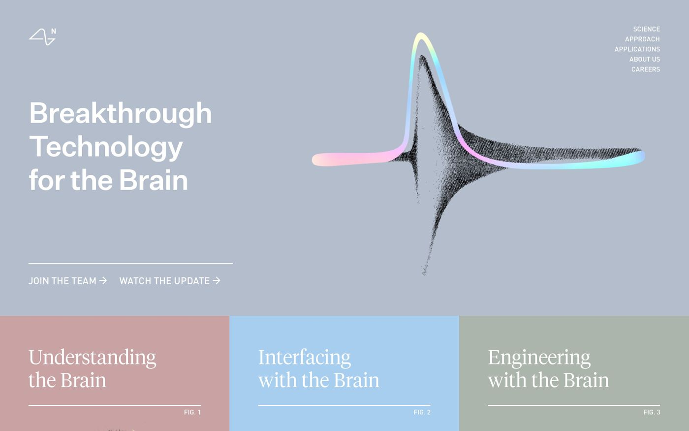 Screenshot of  Neuralink website
