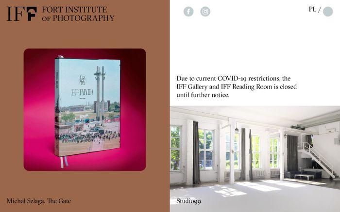 Screenshot of Instytut Fotografii Fort website