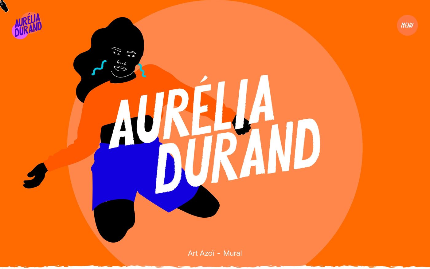 Screenshot of Aurélia Durand website