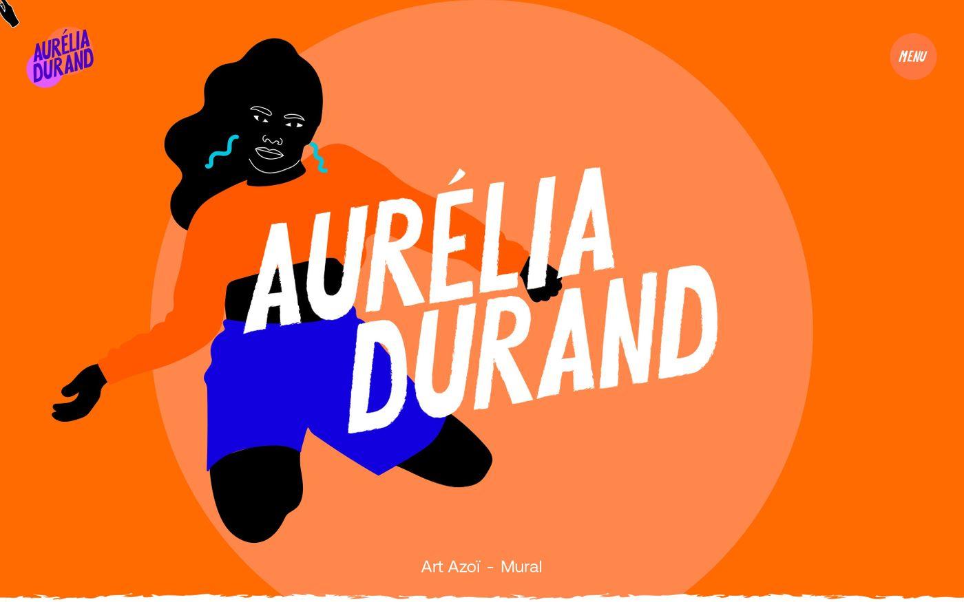 Screenshot of Aurélia Durand website