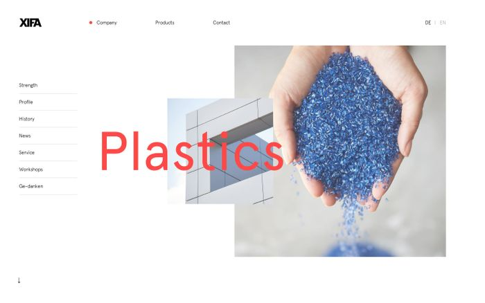 Screenshot of XIFA — Distributor of plastics of known manufacturers