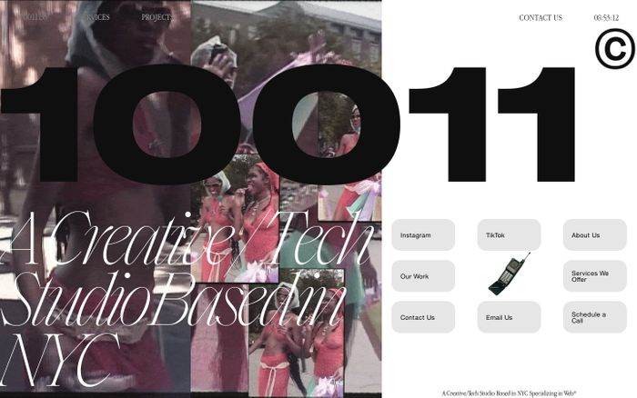Screenshot of 10011.co website