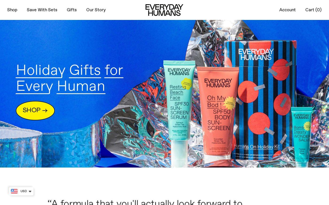 Screenshot of Everyday Humans website