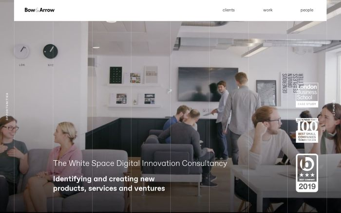 Screenshot of Bow & Arrow | The White Space Digital Innovation Consultancy