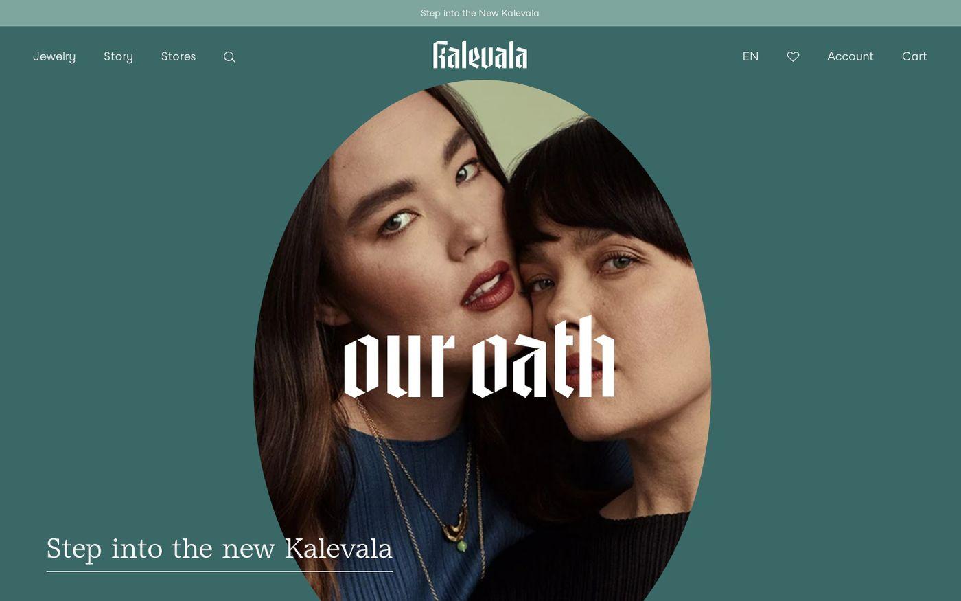 Screenshot of Kalevala website