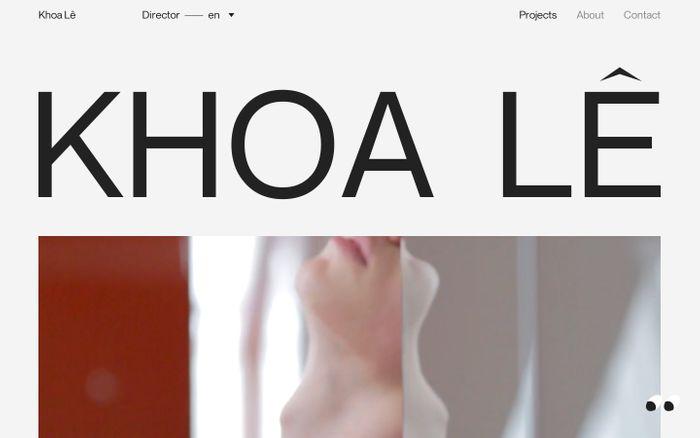 Screenshot of Khoa Lê – Director website