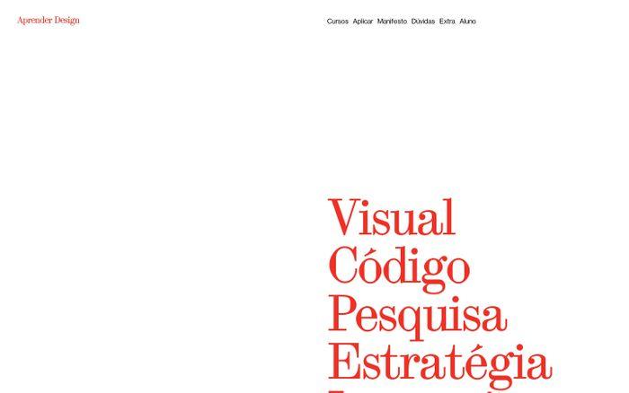 Screenshot of Aprender Design