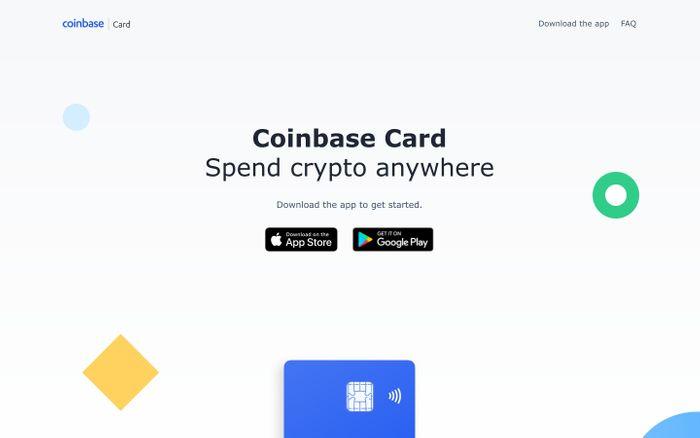 Screenshot of Coinbase Card