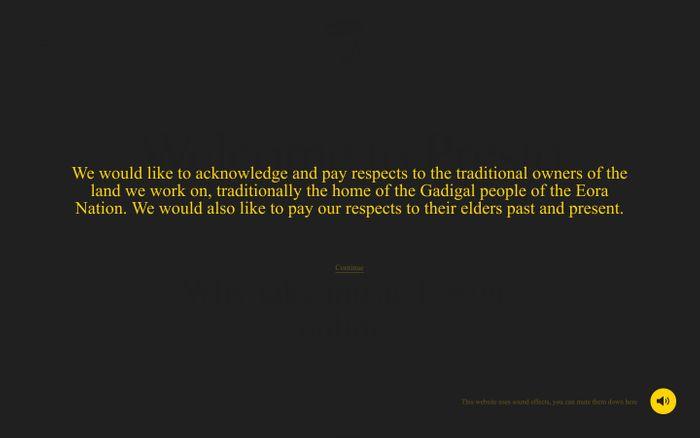Screenshot of Presto website