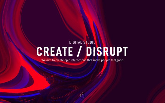 Screenshot of Create / Disrupt