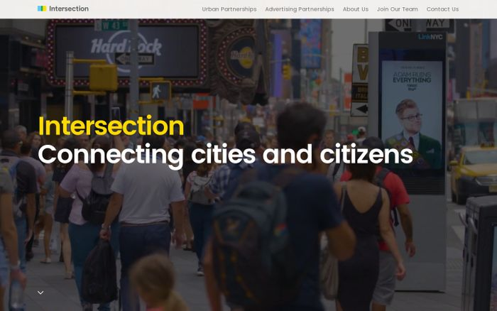 Screenshot of Intersection | Reach people on their daily journeys