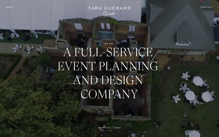 Screenshot of Tara Guerard Soiree