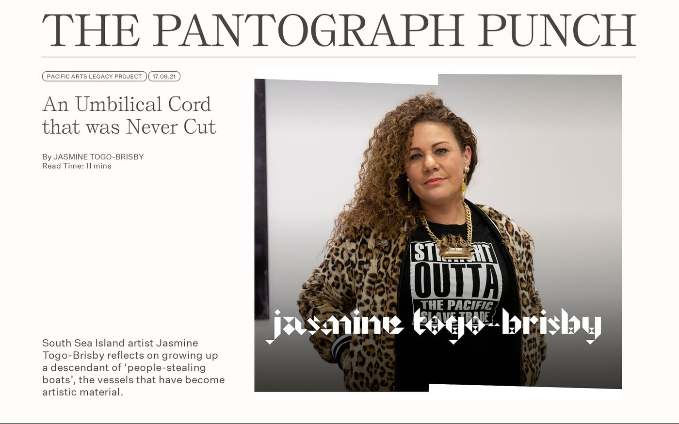 Screenshot of Pantograph website