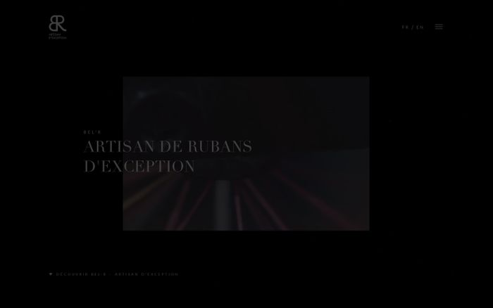 Screenshot of Artisan de Rubans d'exceptions depuis 1905 | BEL'R Artisan d'exception website