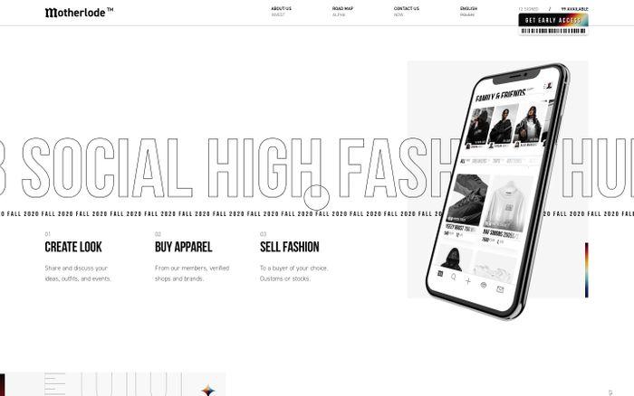 Screenshot of Motherlode - High Fashion Social Hub