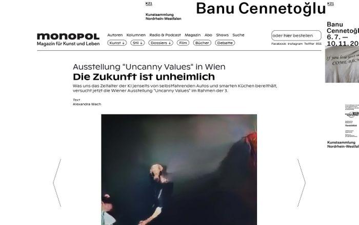 Screenshot of Monopol | Magazin für Kunst und Leben