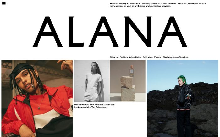Screenshot of Alana — We are a boutique production company based in Spain.