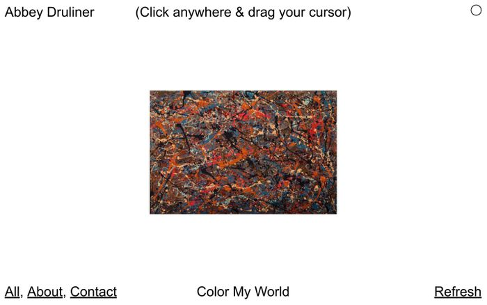 Screenshot of Abbey Druliner | Expressionist Abstract Artist