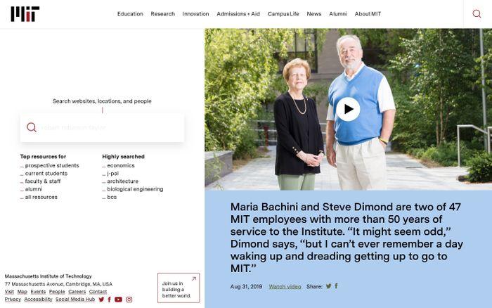 Screenshot of MIT - Massachusetts Institute of Technology