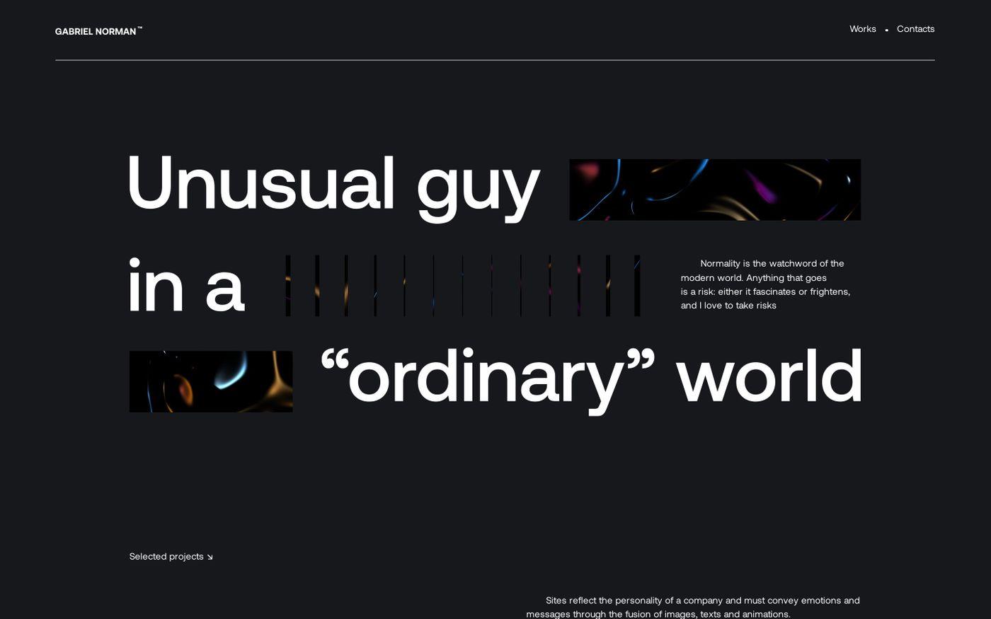 Screenshot of Gabriel Norman website