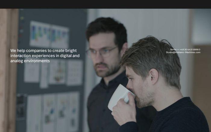 Screenshot of Humans & Machines