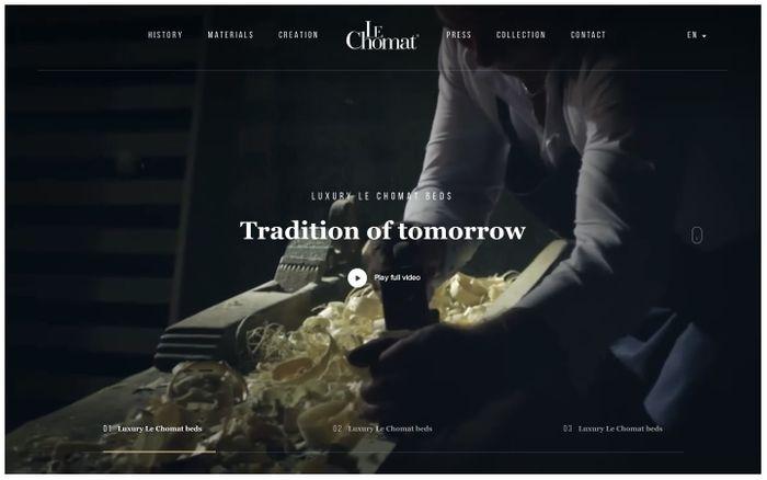 Screenshot of Luxury Le Chomat beds   Le Chomat