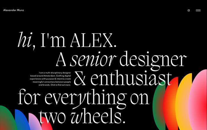 Screenshot of Alexander Munz website