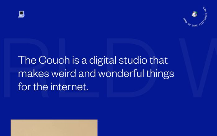 Screenshot of The Couch website