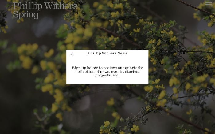 Screenshot of Phillip Withers Landscape Design