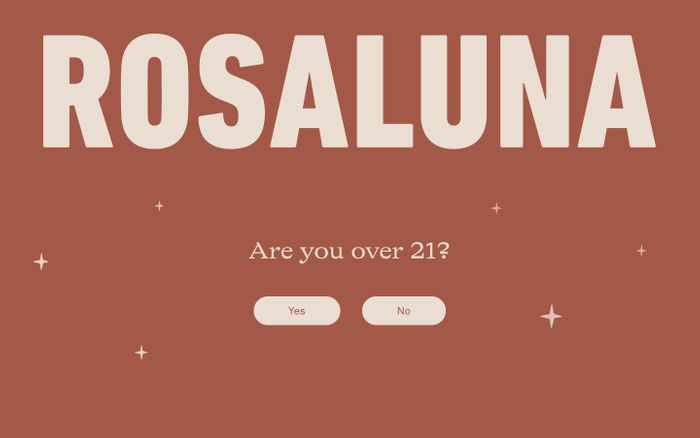 Screenshot of Mezcal Rosaluna website