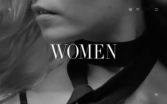 Screenshot of Women Management website