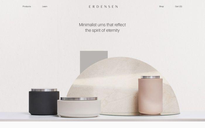 Screenshot of Erdensen website