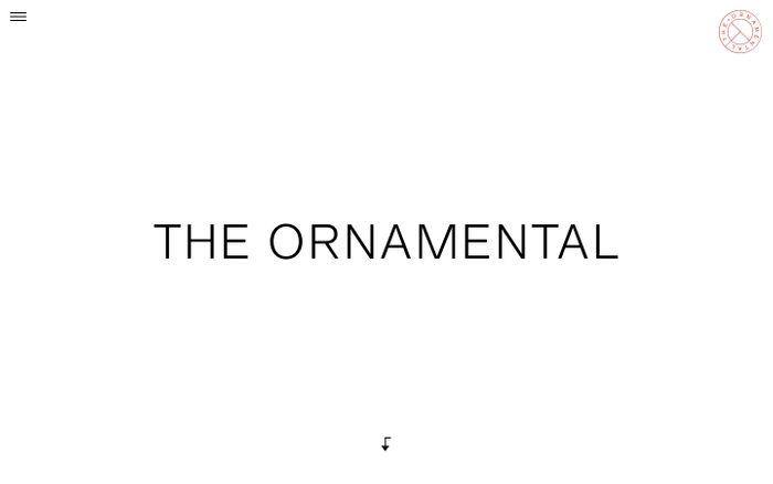 Screenshot of The Ornamental: Home