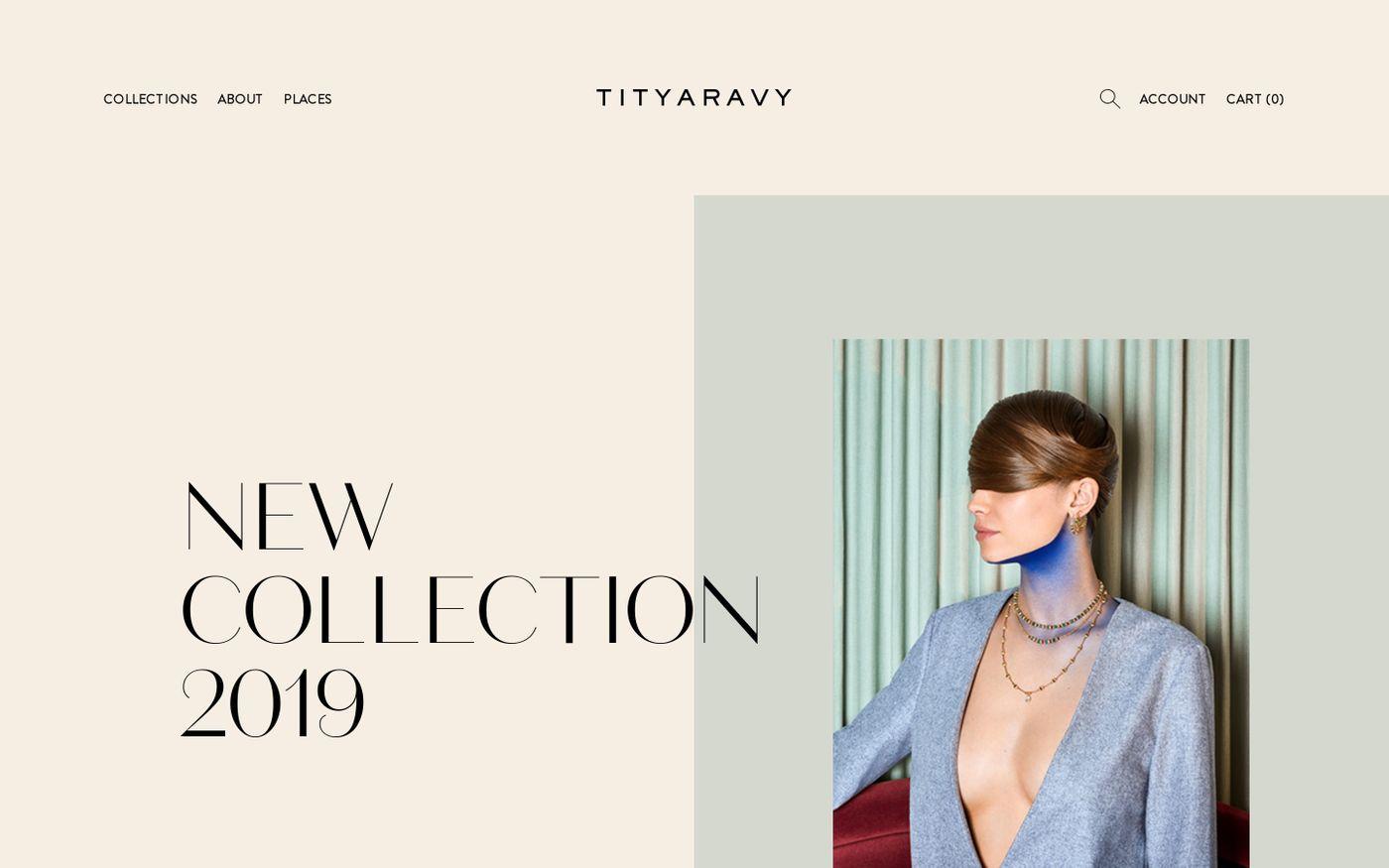 Screenshot of Tityaravy website