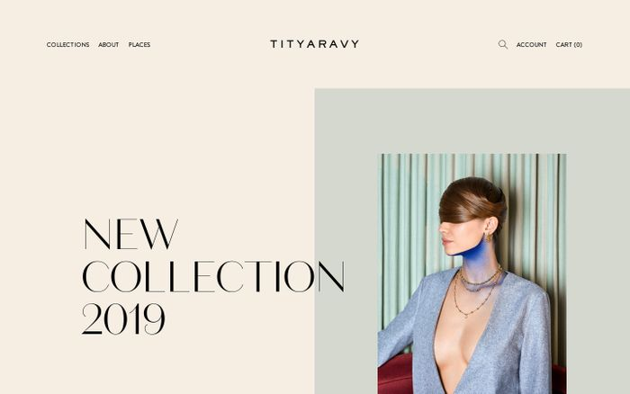 Screenshot of Tityaravy website