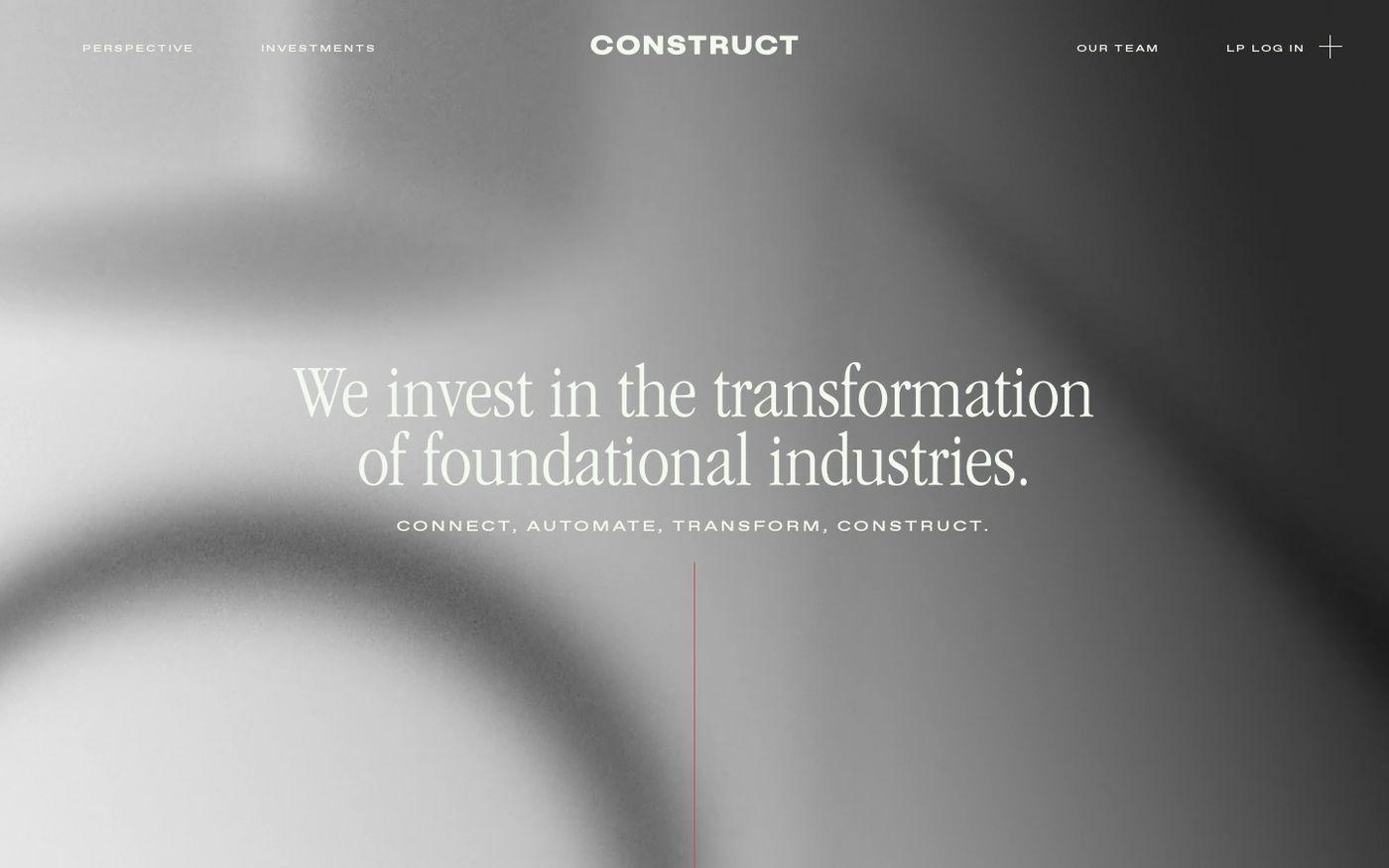 Screenshot of Construct Capital website