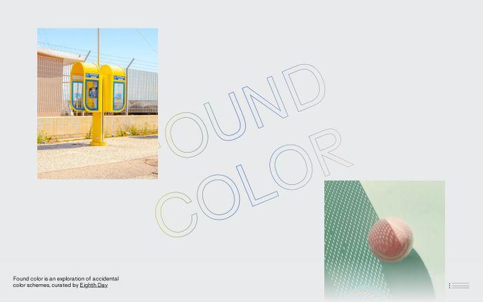 Screenshot of FOUND COLOR · Home