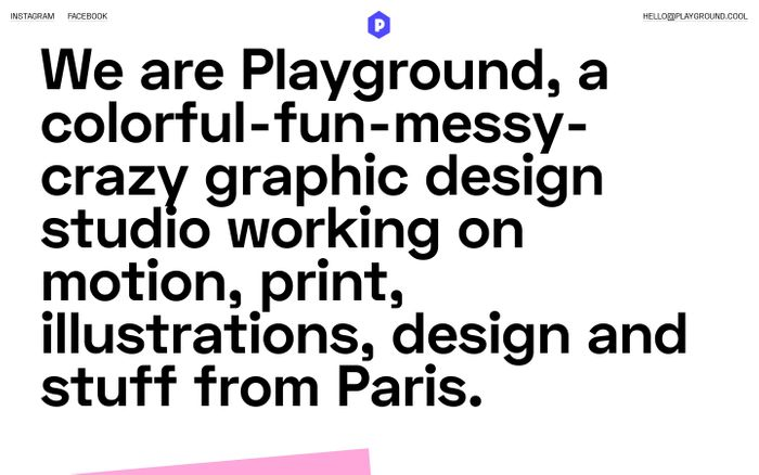 Screenshot of Playground Paris - Graphic Design Studio