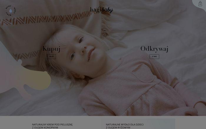Screenshot of Strona główna - Hagi Baby