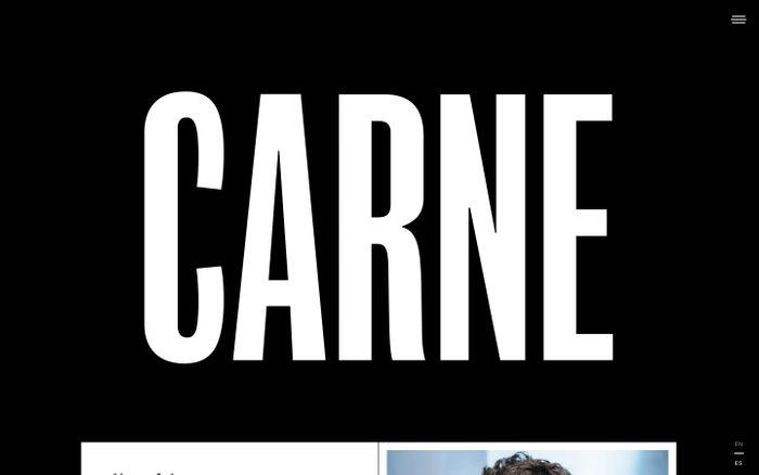 Screenshot of Info — CARNE