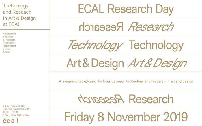 Screenshot of ECAL Research Day 2019